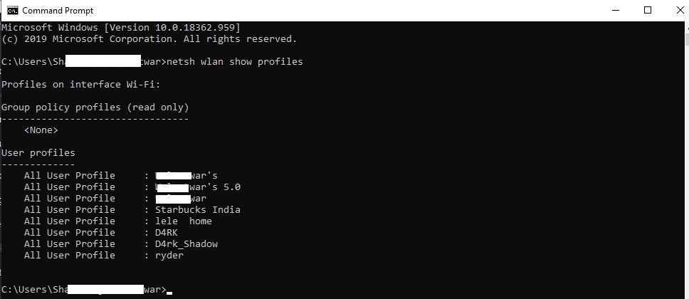 how to see wifi password with cmd