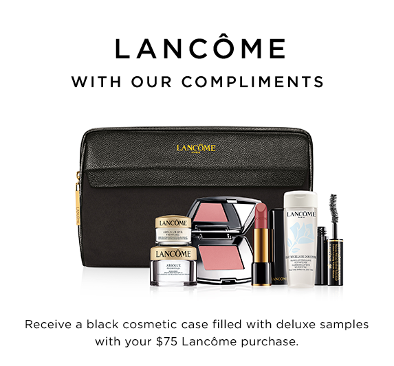 Lancôme Gift with Your $75.00 Purchase at Saks Fifth Avenue