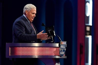 Rick Hendrick speaks during the NASCAR Hall of Fame Class of 2017 Induction Ceremony.