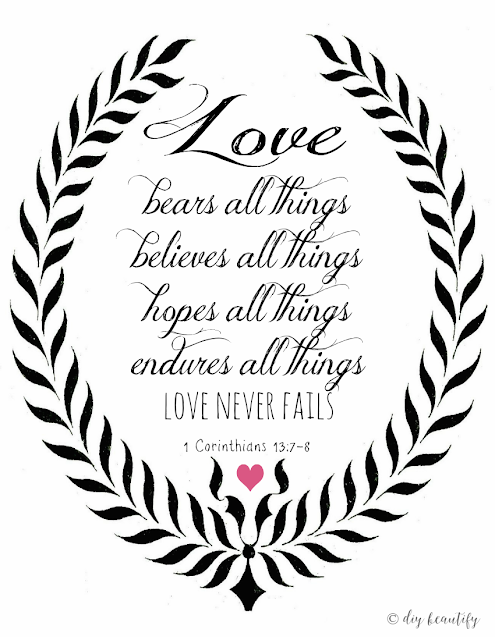 Add this beautiful love-themed printable to your home! Find it at diy beautify!
