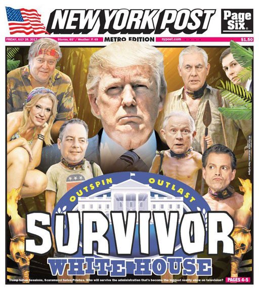 "The Randy Report: NY Post: ""Survivor - White House Edition"""