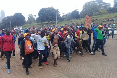 Nasa supporters flock to Uhuru park. PHOTO | FILE