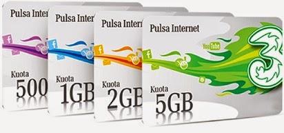 Beginilah Cara Cek Sisa 3 Kuota AON Internet Three - Tri Jagoan Internet