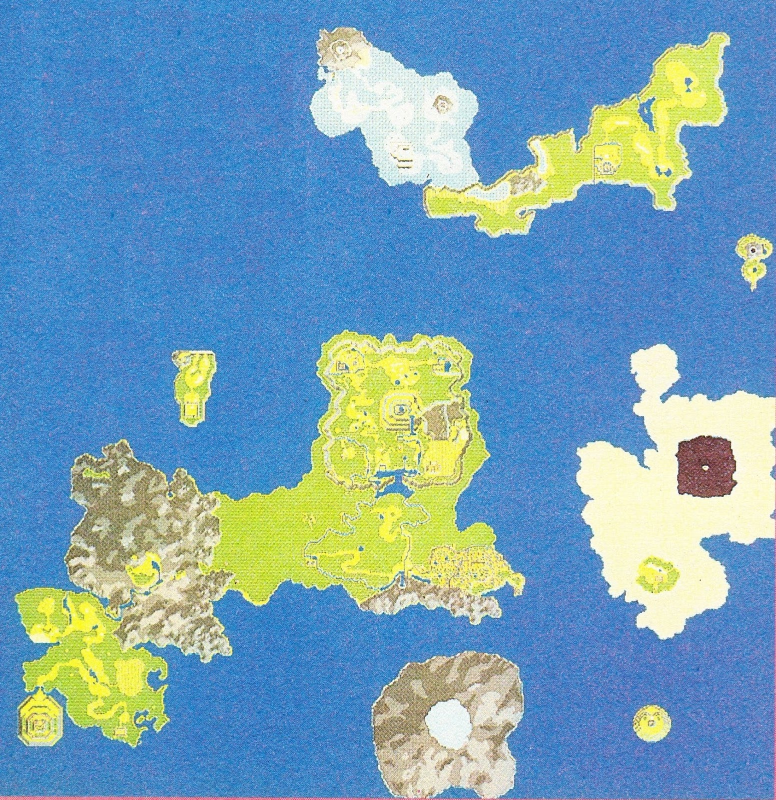 Flipped World Map.Secret Of Mana Redux Early World Map