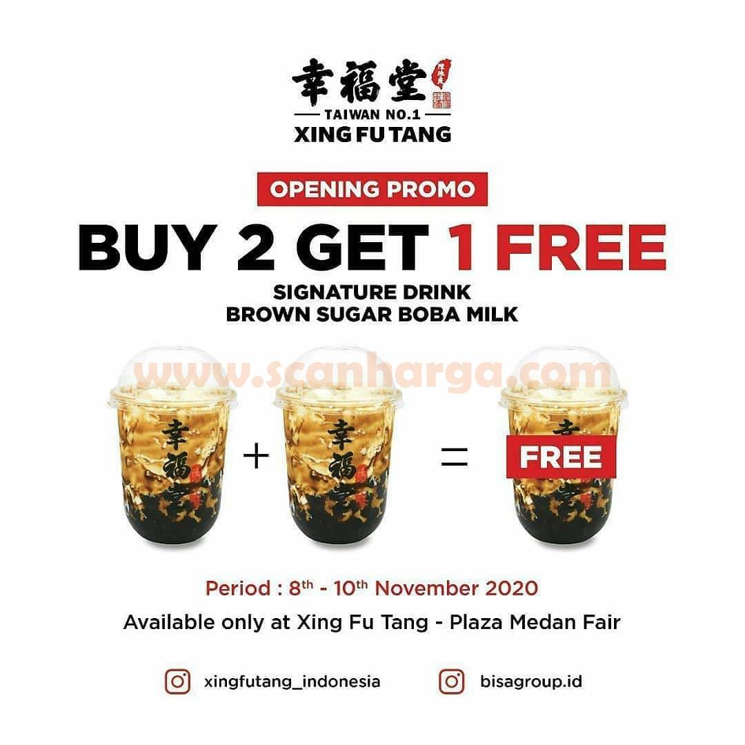 Xing Fu Tang Plaza Medan Fair Promo Opening Beli 2 Gratis 1