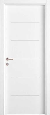 model pintu minimalis modern cat putih