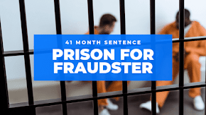 Federal prison sentence of 41 months for defrauding employer