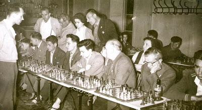 Simultáneas de ajedrez de Ridameya en La Pobla de Lillet de 1960