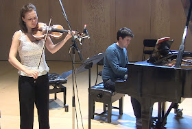 Tamsin Waley-Cohen & James Baillieu recording CPE Bach at Snape