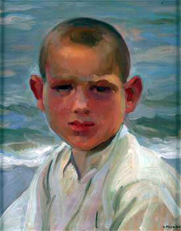 Victor Moya Calvo, Retrato de Chico, Pintor español, Pintores Valencianos, Retrato de azules, Retrato de andaluza, Retratos de Victor Moya Calvo