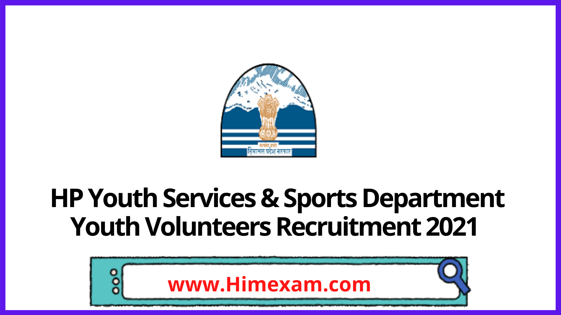 HP Youth Services & Sports Department Youth Volunteers Recruitment 2021