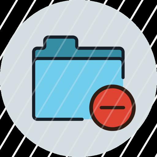 delete, files, folder, remove, storage, icon, folder
