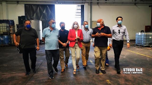 Με παραγωγικούς φορείς στην Αργολίδα συναντήθηκε η Φώφη Γεννηματά  (βίντεο)
