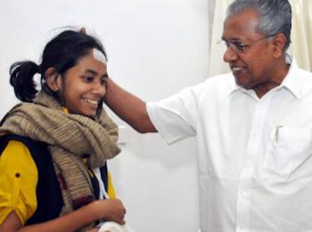 मुख्यमंत्री पिनाराई विजयन ने जेएनयू छात्र संघ के नेता आईशा घोष को शुभकामनाएं दीं