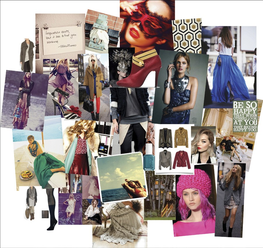 Turning mood board inspiration into a blog design