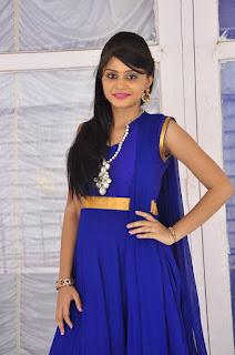 Actress Harisha Krishna Stills in Beautiful Blue Chudiddar  0014.jpg