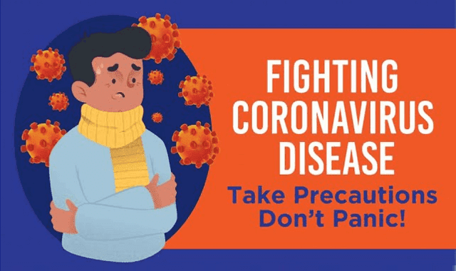 Fighting Coronavirus Disease: Take Precautions But Don't Panic #infographic