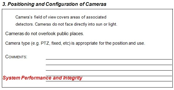 Positioning and Configuration of Cameras