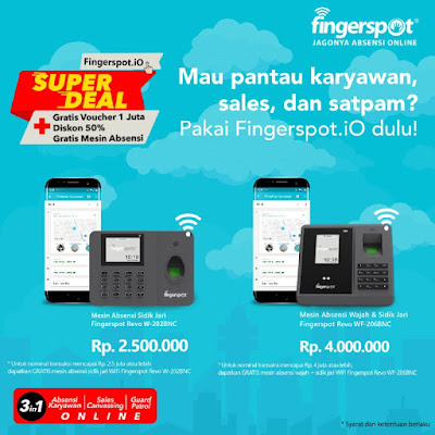 Fingerspot.iO untuk Absensi Online