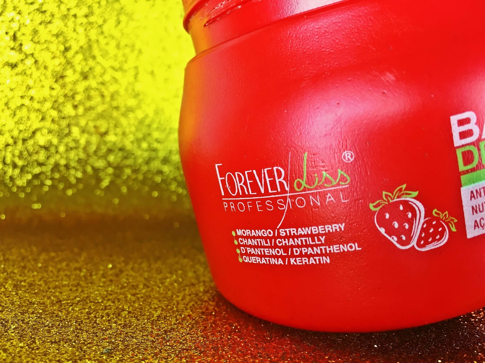 banho de verniz morango