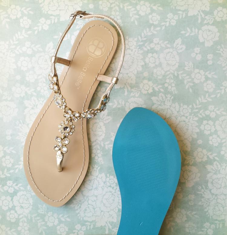 Blue Sole Wedding Shoes Flats