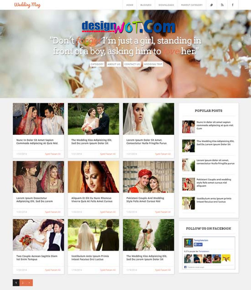 WEDDING MAGAZINE - Responsive Blogger Template