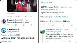 Dinilai Provokasi dan Menebar Islamophobia, Akun Twitter DW Indonesia Disikat Habis Netizen