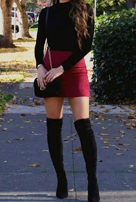 Red Skirt Dress