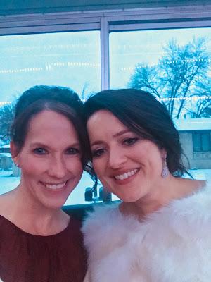 The bride and bridesmaid