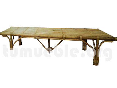 tumbona plana bambu j415