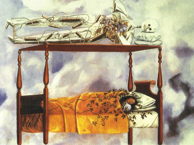 Фрида Кало - Сон (Кровать). 1940