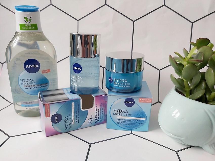 nivea hydra skin effect nawilżająca linia kosmetyków z kwasem hialuronowym