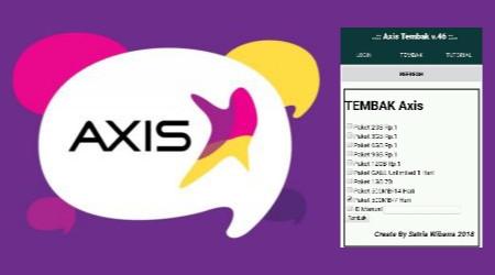 Aplikasi Tembak Paket Kuota Axis Rp.1 Dan Axis Play 1