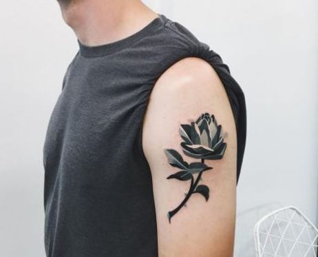 Forearm Rose Tattoo Designs For Men