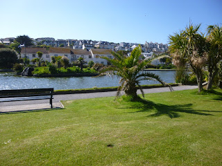 Putting course at the Boating Lake in Perranporth, Cornwall