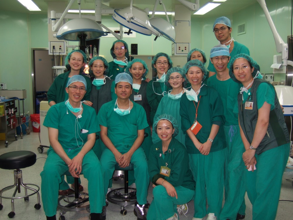 手術室照片,攝於2009年的亞洲乳房整形重建學會