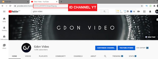 Cara dapat id channel youtube