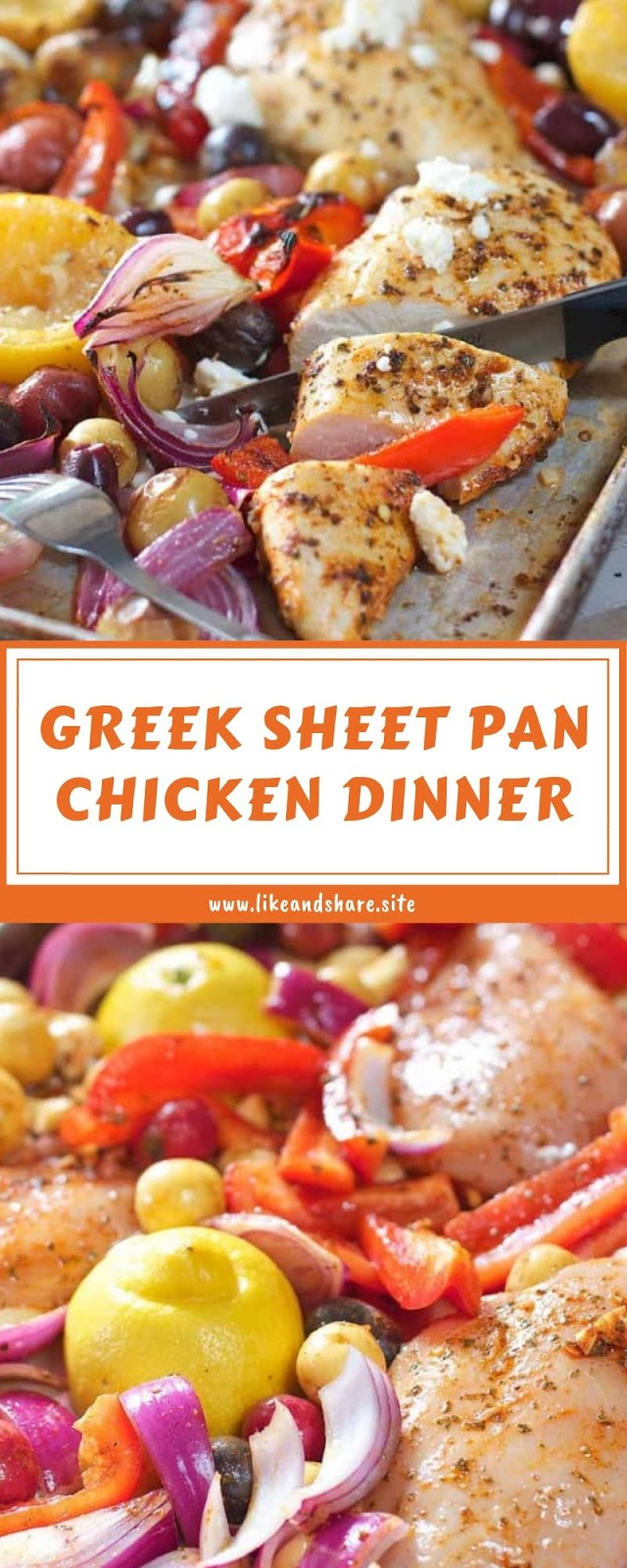 GREEK SHEET PAN CHICKEN DINNER