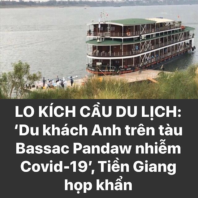 Lo kích cầu du lịch: Du khách Anh trên tàu Bassac Pandaw nhiễm Covid-19, Tiền Giang họp khẩn