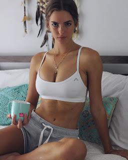emily feld in white bikini top