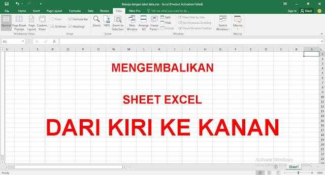 Cara Merubah Arah Kolom dan Baris Kiri Kekanan di Microsoft Excel