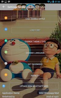BBM Doraemon 3D Transparan v3.1.0.13 Apk Terbaru