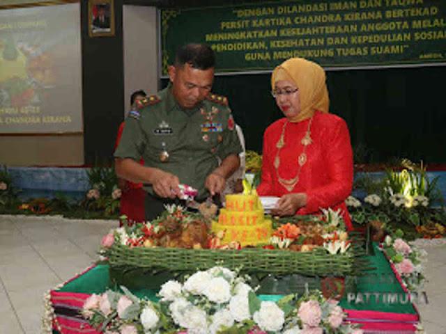 Nida Marga Taufiq Pimpin Syukuran Peringati HUT Persit ke 73 di Kodam Pattimura