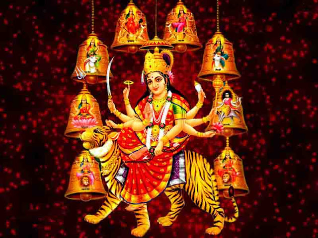 happy navratri 2020 , navratri wishes image 2020, 4TH NAVRATRI WISHES IMAGE
