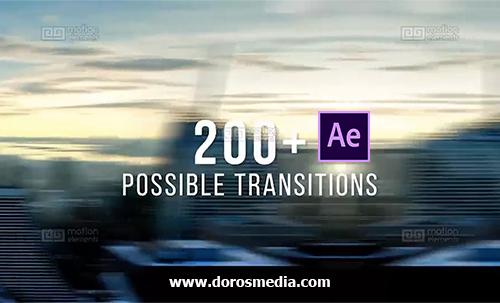 إنتقالات رائعة للافترافكت وحزمة عرض شرائح للصور والفيديو 50 + Epic Transitions and Slideshow Pack