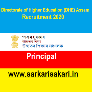 Directorate of Higher Education (DHE), Assam has released a recruitment notification for 2 posts of Principal. Interested candidates may check the vacancy details and apply online (Email).