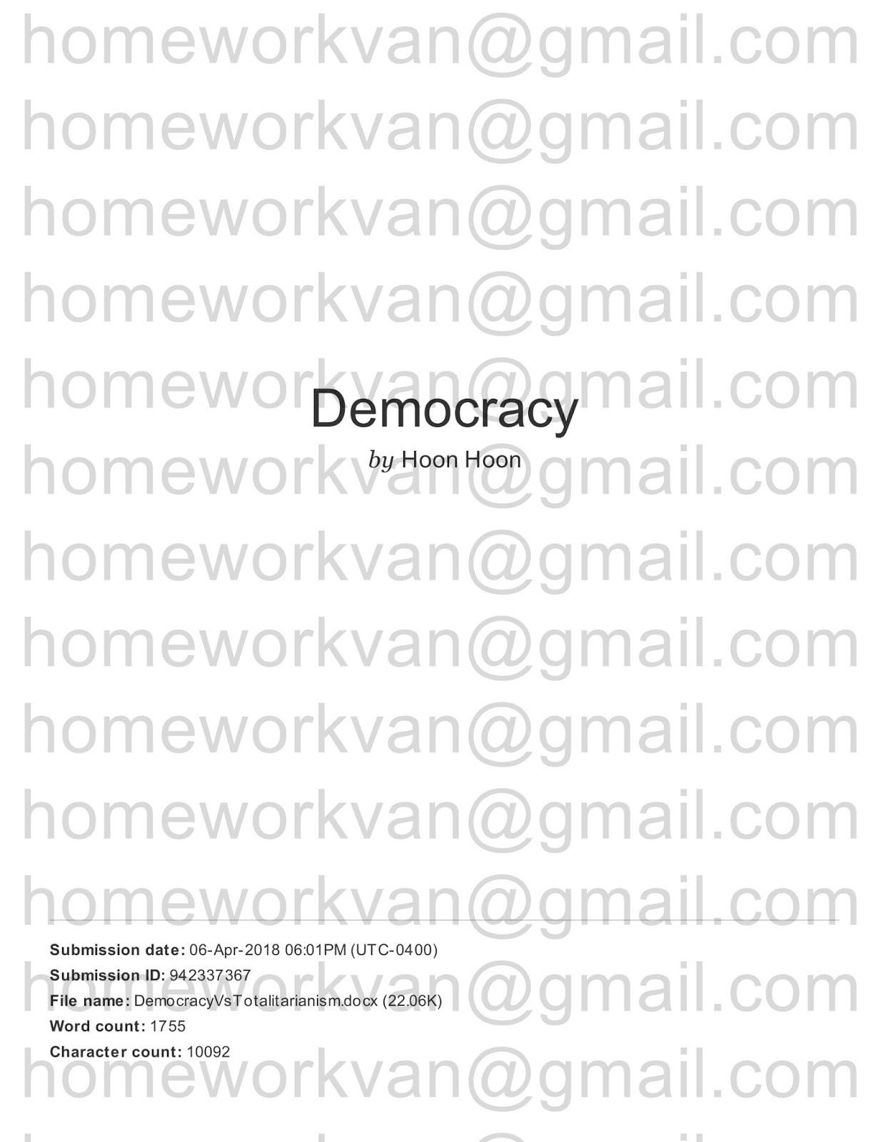 homeworkvan official blog: A Comparison of Democratic and