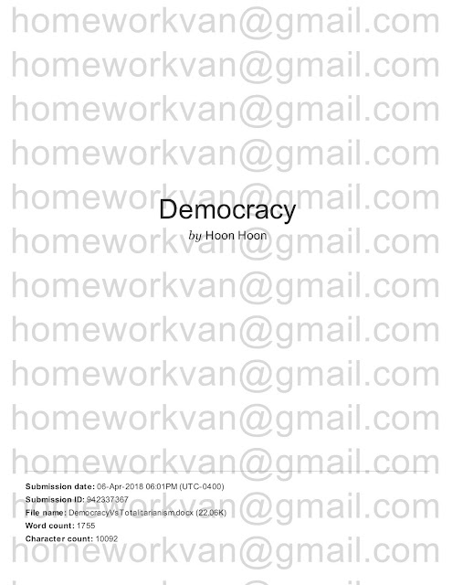homeworkvan official blog: A Comparison of Democratic and