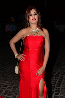 Sejal Jen Shah in Strapless Sleeveless Deep neck Red Gown at 64th Jio Filmfare Awards South ~  Exclusive 005.JPG