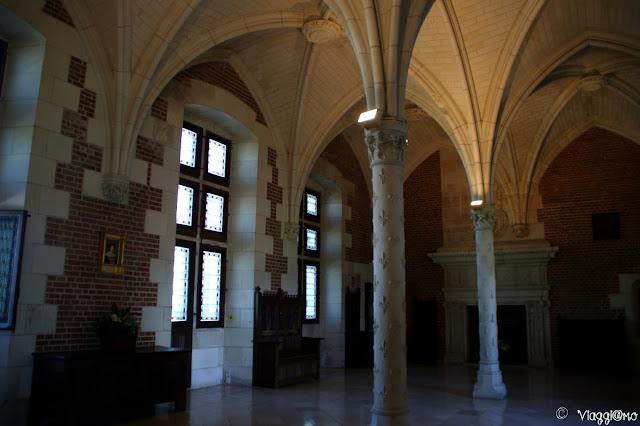 La Sala del consiglio nell'ala Gotica del Palazzo Reale